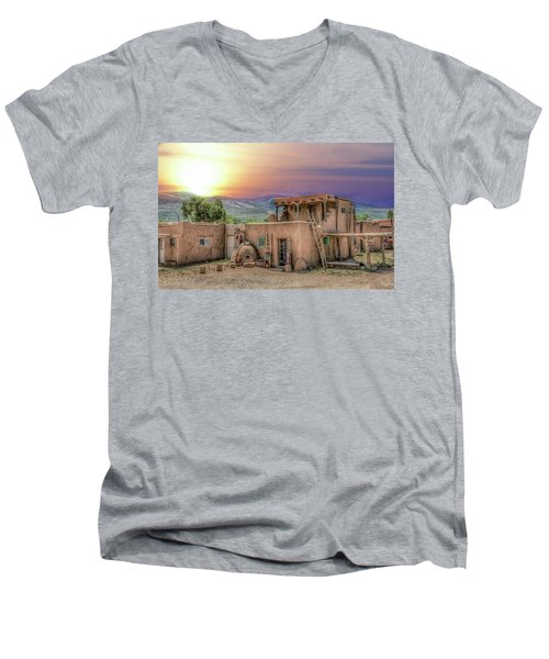 Taos Pueblo Men's V-Neck T-Shirt