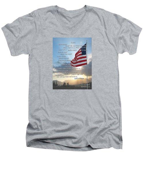 Taps Words Men's V-Neck T-Shirt