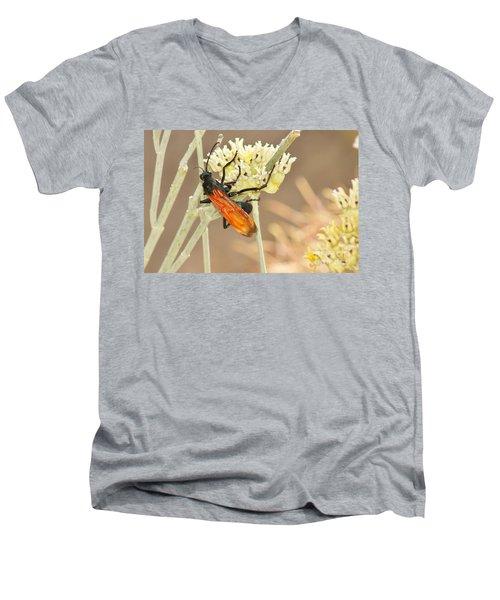 Tarantula Hawk Men's V-Neck T-Shirt by Sean Griffin
