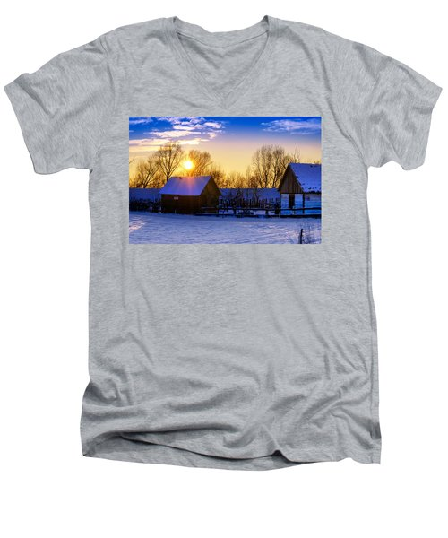Tarchomin Sunset Men's V-Neck T-Shirt