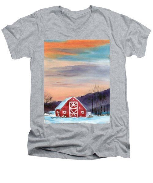 Target Range Barn Men's V-Neck T-Shirt by Larry Hamilton