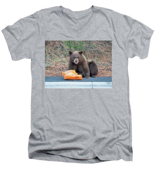 Taste Of The Wild Men's V-Neck T-Shirt by Scott Warner