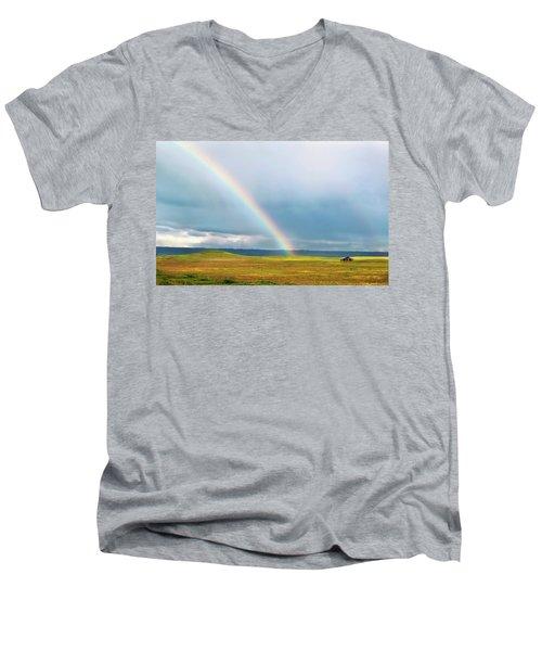 Taste The Rainbow Men's V-Neck T-Shirt