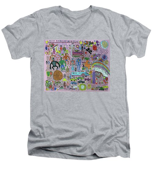 Taste The Rainbow Men's V-Neck T-Shirt