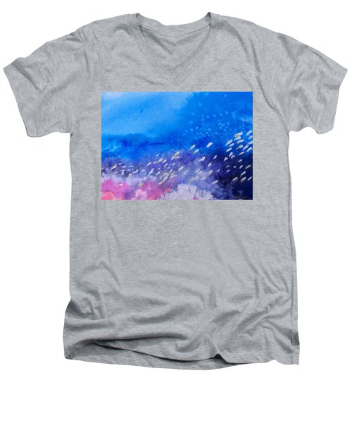 Men's V-Neck T-Shirt featuring the painting Tavu Na  Siki by Ed Heaton