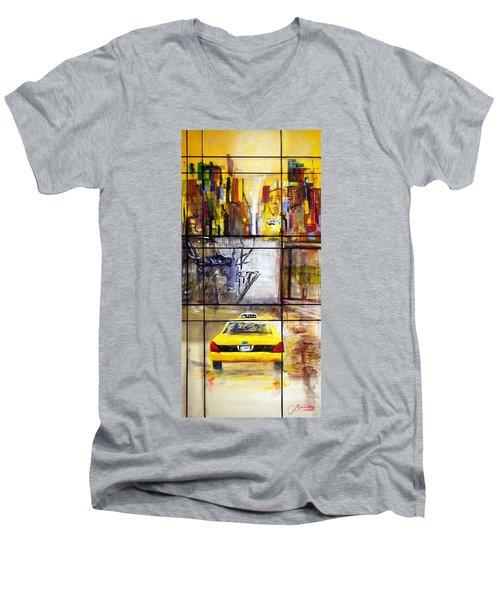 Taxi 7 Men's V-Neck T-Shirt
