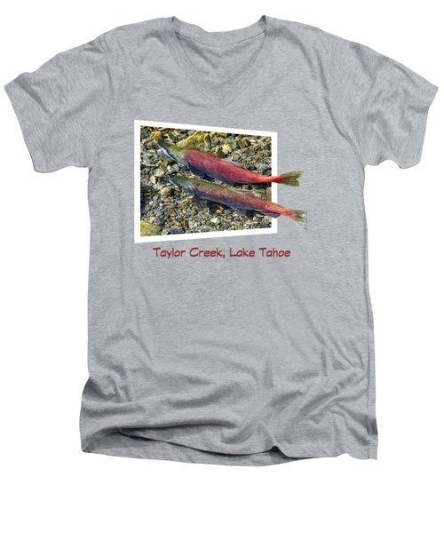 Taylor Creek, Lake Tahoe Men's V-Neck T-Shirt by David Lawson