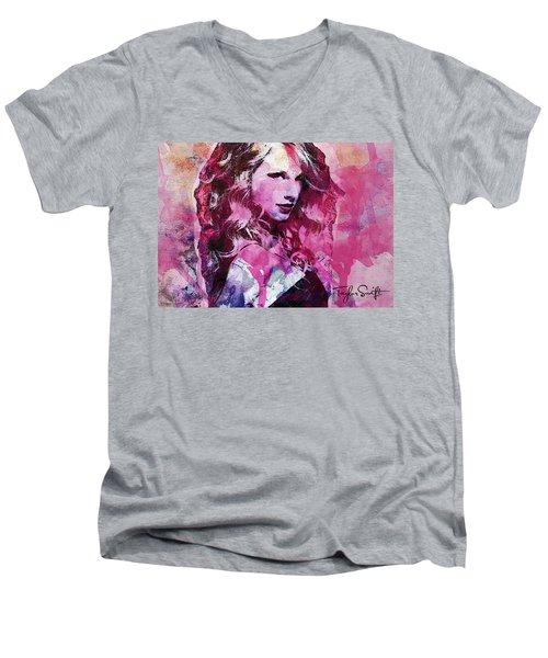 Taylor Swift - Oncore Men's V-Neck T-Shirt by Sir Josef - Social Critic - ART