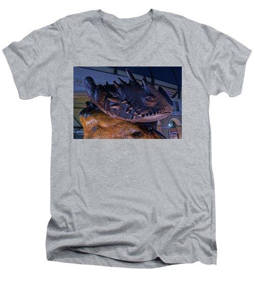 Tcu Frog Mascot Men's V-Neck T-Shirt by Jonathan Davison