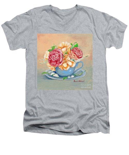 Tea Roses Men's V-Neck T-Shirt