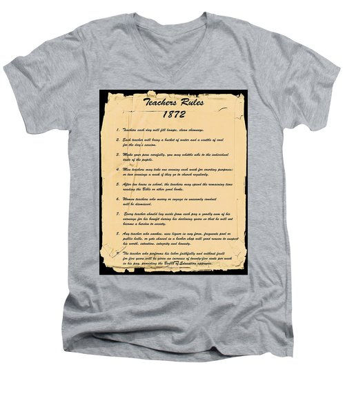 Teachers Rules 1872 Men's V-Neck T-Shirt