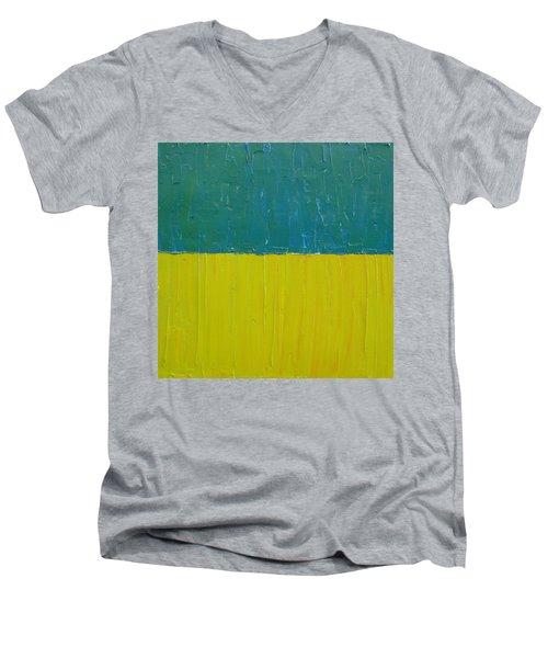 Teal Olive Men's V-Neck T-Shirt