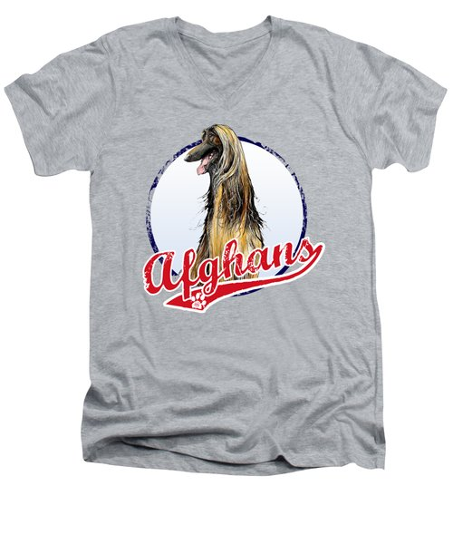 Team Afghan Hound Men's V-Neck T-Shirt