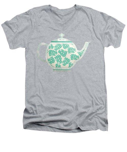 Teapot Garden Party 1 Men's V-Neck T-Shirt by J Scott