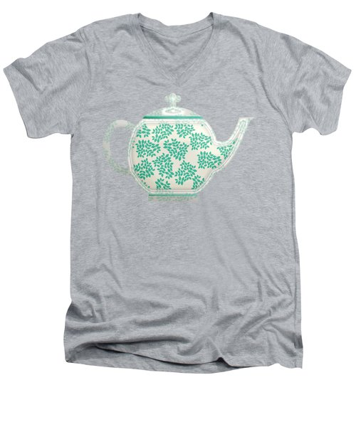 Teapot Garden Party 1 Men's V-Neck T-Shirt