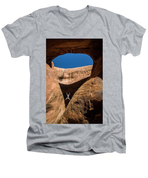 Teardrop Arch Men's V-Neck T-Shirt