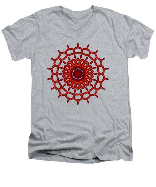 Teardrop Fractal Mandala Men's V-Neck T-Shirt