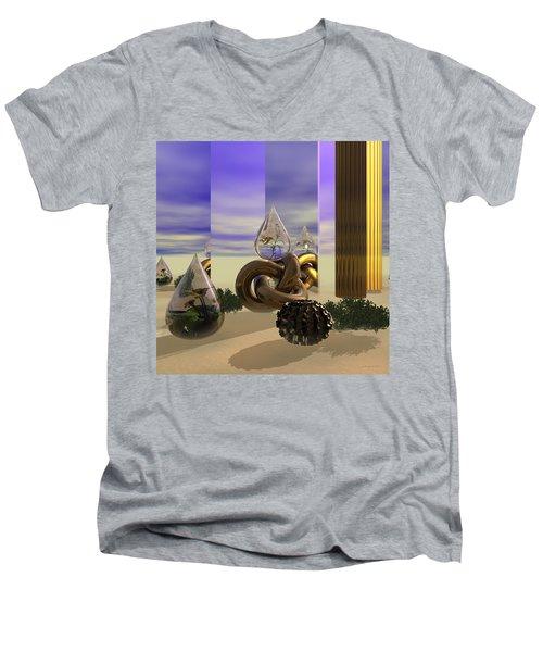 Tears In The Desert Men's V-Neck T-Shirt