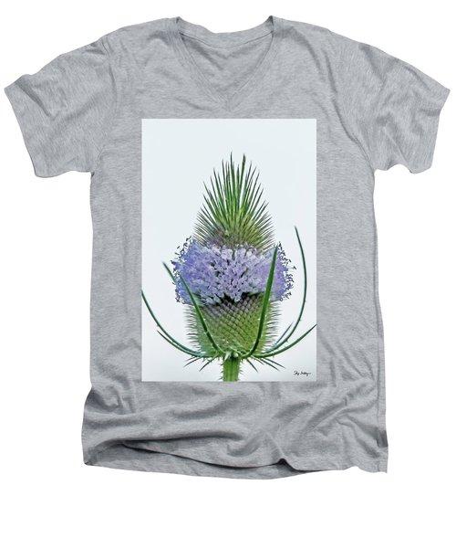 Teasel On White Men's V-Neck T-Shirt