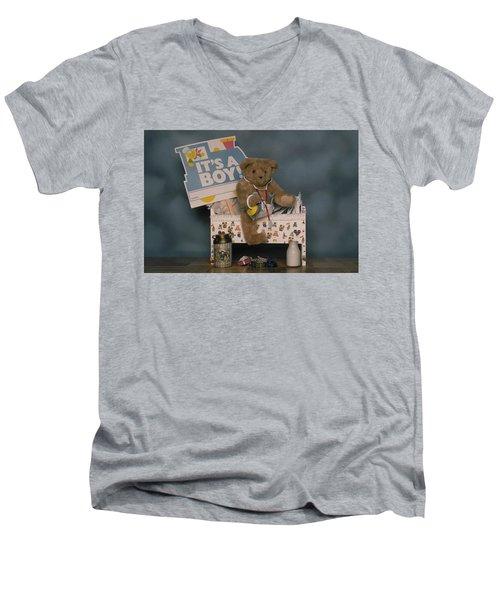 Teddy Bear - Its A Boy Men's V-Neck T-Shirt