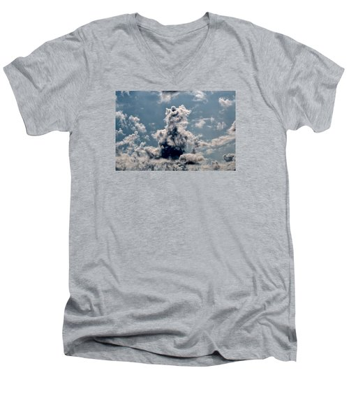 Men's V-Neck T-Shirt featuring the photograph Teddy Bear by Leif Sohlman