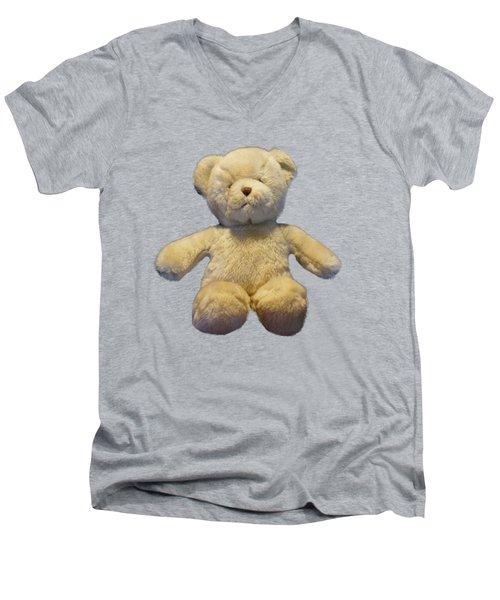 Teddy Bear Men's V-Neck T-Shirt by Pamela Walton
