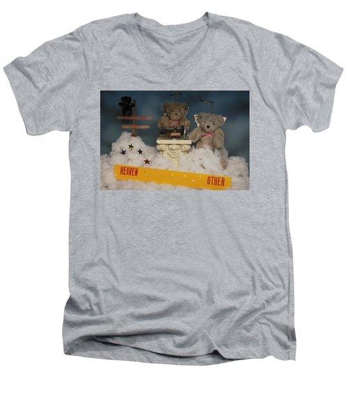 Teddy Bears In Heaven Men's V-Neck T-Shirt