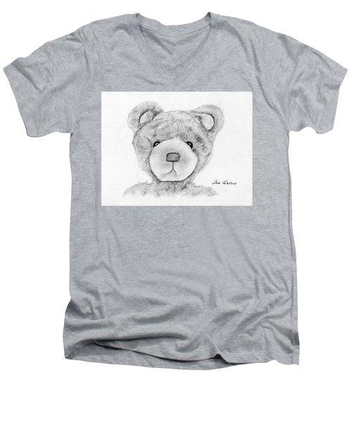 Teddybear Portrait Men's V-Neck T-Shirt