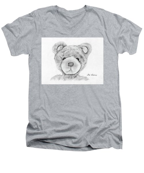 Teddybear Portrait Men's V-Neck T-Shirt