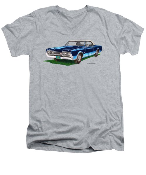 Tee Shirt Art 1967 Oldsmobile 4 4 2 Convertible Men's V-Neck T-Shirt