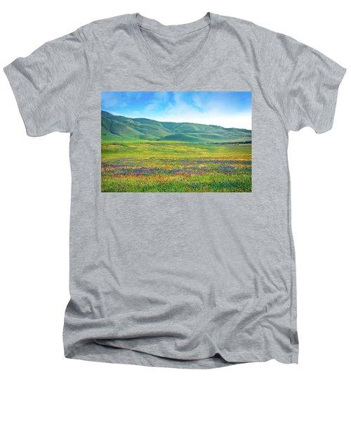 Tejon Ranch Wildflowers Men's V-Neck T-Shirt