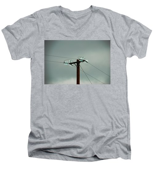 Telegraph Lines Men's V-Neck T-Shirt