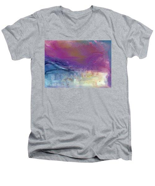 Temperamental Twilight Men's V-Neck T-Shirt