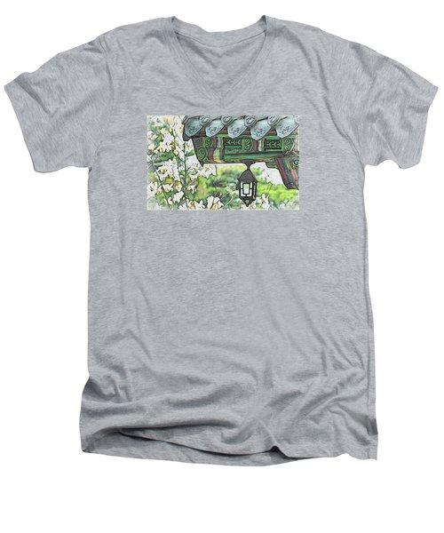 Temple Light Men's V-Neck T-Shirt