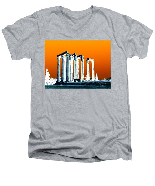 Temple Of Zeus, Athens Men's V-Neck T-Shirt