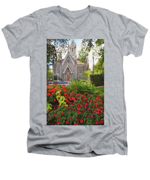 Temple Square Flowers Men's V-Neck T-Shirt