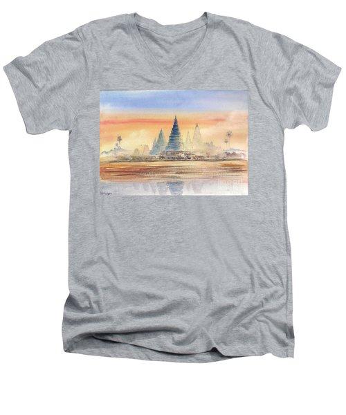 Temples In The Dusk Men's V-Neck T-Shirt