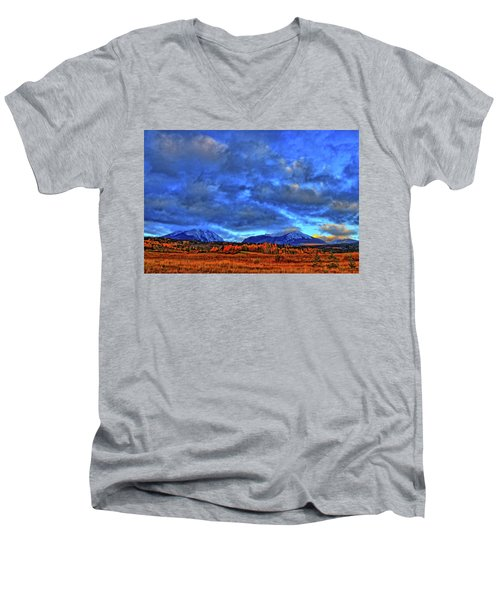 Men's V-Neck T-Shirt featuring the photograph Ten Mile Of Fall Colors by Scott Mahon