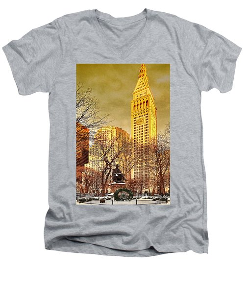 Ten Past Four At Madison Square Park Men's V-Neck T-Shirt