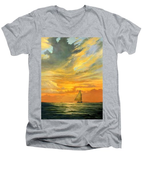 Ten Thousand Islands Men's V-Neck T-Shirt