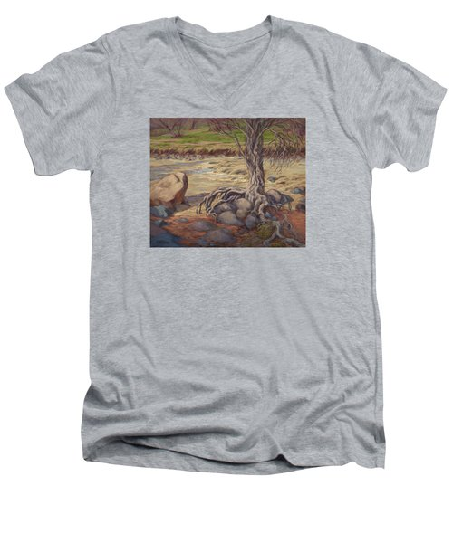 Tenacity Men's V-Neck T-Shirt by Jane Thorpe
