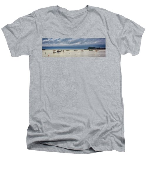 Men's V-Neck T-Shirt featuring the photograph Tenants Harbor by Rick Berk