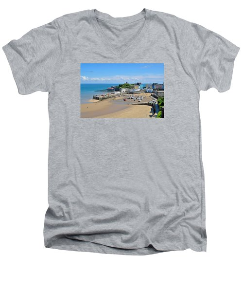Tenby 1 Men's V-Neck T-Shirt