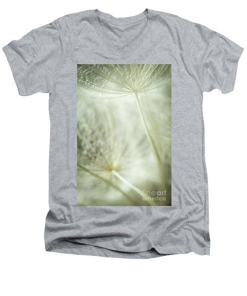 Tender Dandelion Men's V-Neck T-Shirt by Iris Greenwell