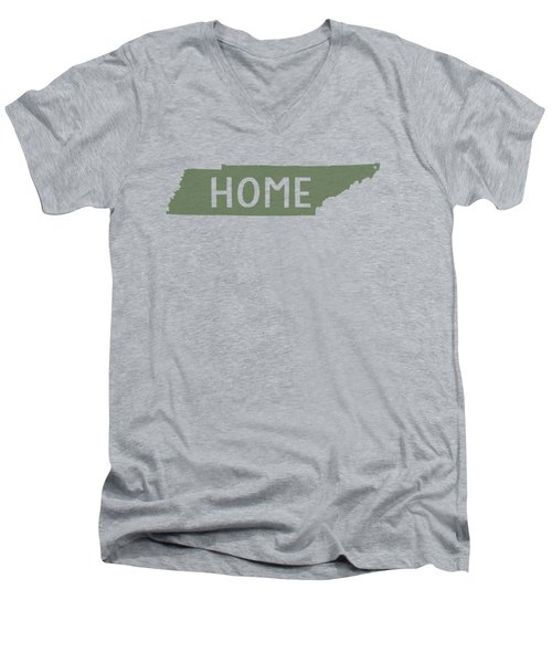Tennessee Home Green Men's V-Neck T-Shirt by Heather Applegate