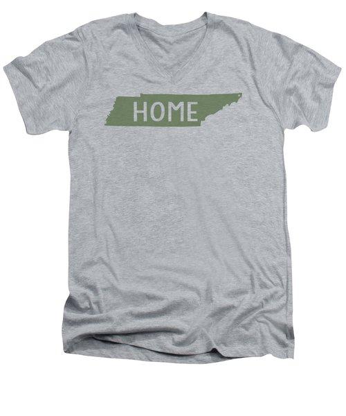 Tennessee Home Green Men's V-Neck T-Shirt