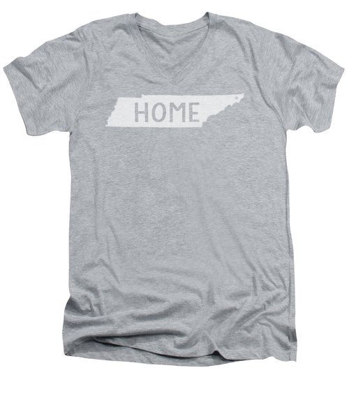 Tennessee Home White Men's V-Neck T-Shirt
