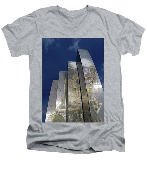 Men's V-Neck T-Shirt featuring the photograph Termination by Christopher McKenzie