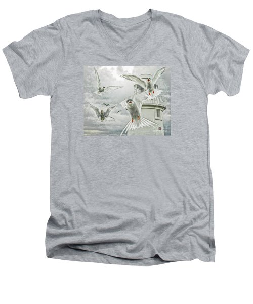 Tern Attack Men's V-Neck T-Shirt