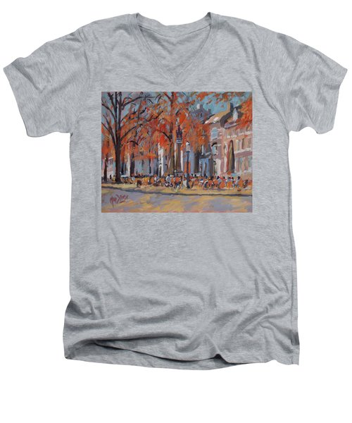 Terrace In The Grand Tanners Street Maastricht Men's V-Neck T-Shirt by Nop Briex